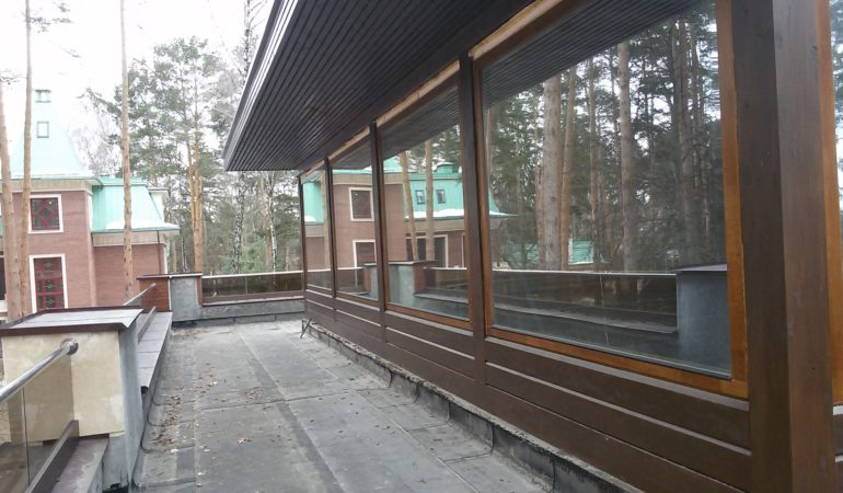 Общий вид с крыши дома