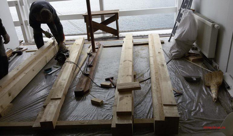 Заготовка и зарезка деталей из клееного бруса