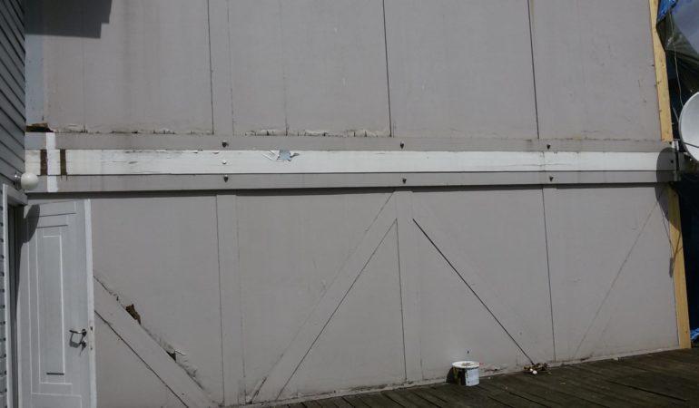 Фото стены, подлежащей реконструкции
