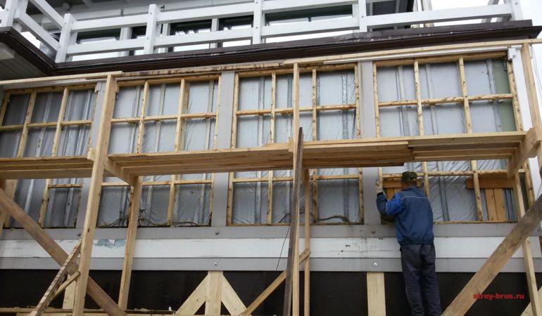 Внешняя облицовка 2 этажа демонтирована